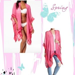 Cejon gracer crinkle cover up/Poncho